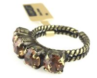 Vorschau: Konplott Colour Snake Ring in Light Smoked Topaz, hellbraun 5450527257077