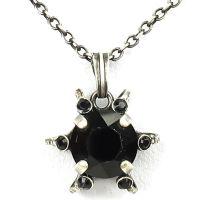 Vorschau: Konplott Petit Four de Fleur jet Halskette mit Anhänger klein, schwarz 5450543322315