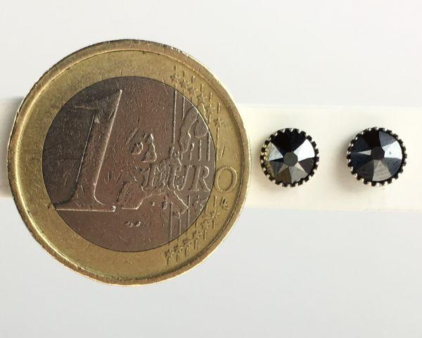 Konplott Black Jack Ohrstecker klein in black jet hematite, schwarz 5450527610230