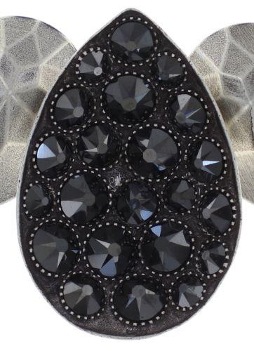 Konplott Tears of Joy steinbesetzte Halskette in schwarz jet hematite 5450543763125