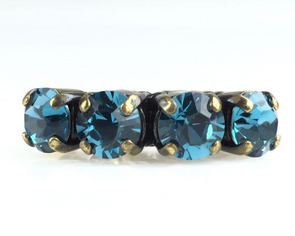 Konplott Colour Snake Ring in Indicolite, blau 5450527256896