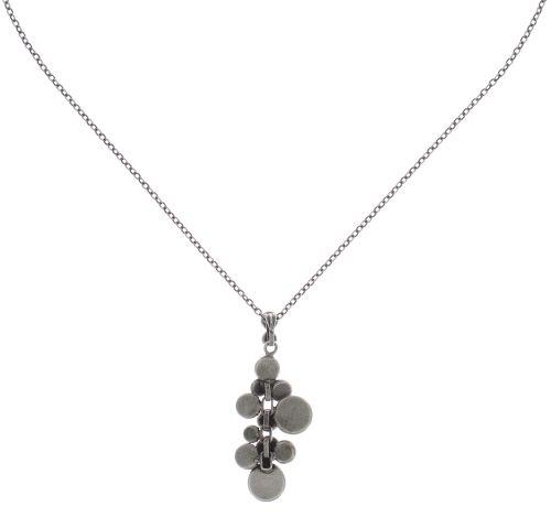 Konplott Water Cascade Halskette mit Anhänger in schwarz 5450543721484