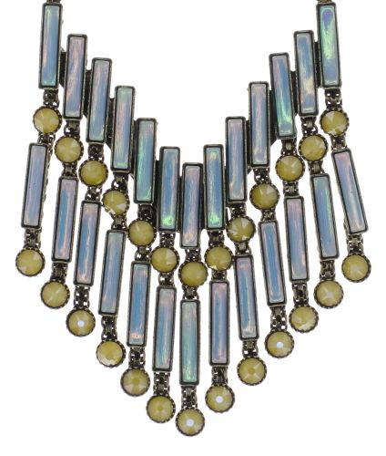Konplott Graphic Flow Halskette in blau/gelb antique 5450543866444
