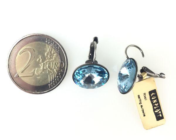 Konplott Rivoli aquamarine Ohrhänger mit Klappverschluss 5450527612890