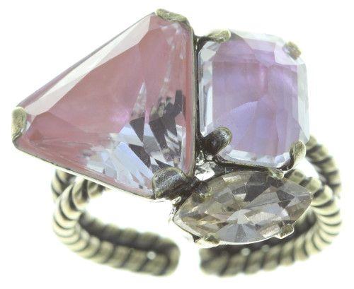 Konplott Mix the Rocks Ring in rosa crystal blush 5450543790633