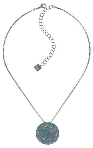 Konplott Studio 54 Halskette mit Anhänger in hellblau Silberfarben 5450543748443