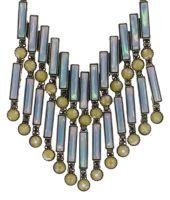Vorschau: Konplott Graphic Flow Halskette in blau/gelb antique 5450543866444