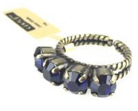 Vorschau: Konplott Colour Snake Ring in Dark Indigo, dunkelblau 5450527640893