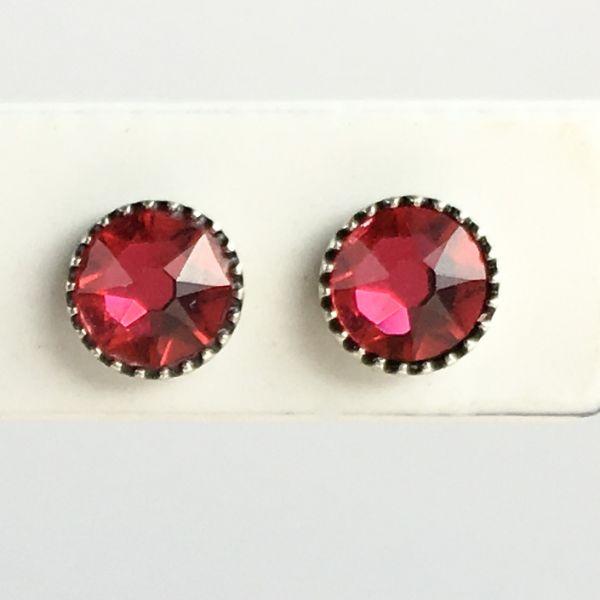 Konplott Black Jack Ohrstecker klein in indian pink, pink/rot 5450527667906