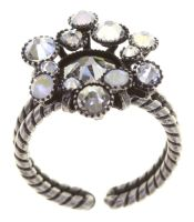 Konplott Alien Caviar Ring Crystal Clear in weiß 5450543895604
