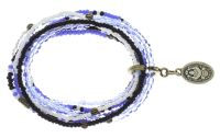 Konplott Petit Glamour d'Afrique Armband in blau/weiß antique 5450543862477