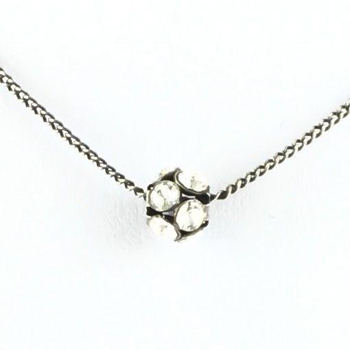 Disco Balls crystal Halskette mit Anhänger S