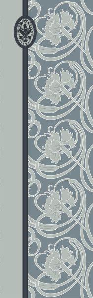 Konplott Schal Floral 14 in hellblau 5450543807058