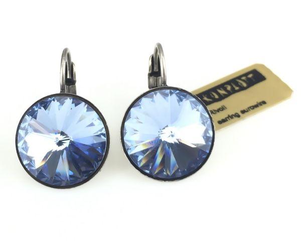 Konplott Rivoli light sapphire Ohrhänger mit Klappverschluss 5450527495318