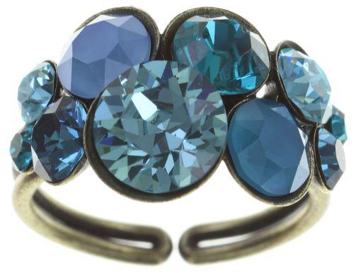 Konplott Petit Glamour Ring in blau/grün 5450543728315