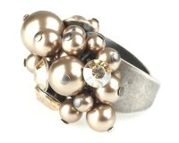 Vorschau: Konplott Pearl Shadow crystal golden shadow Ring 5450527598804