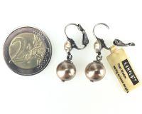 Vorschau: Konplott Pearl Shadow crystal golden shadow Perlen Ohrhänger mit Klappverschluss 5450527598781