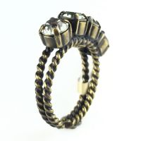 Konplott Colour Snake Ring in Black Diamond, kristall schwarz 5450527132558