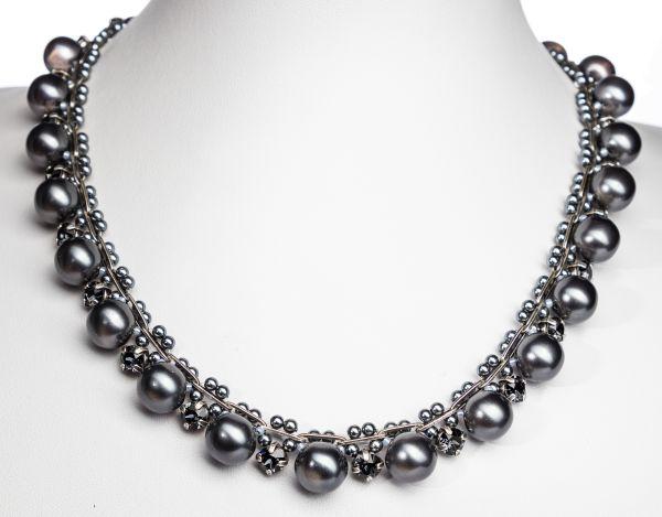 Konplott Caviar Classic Halskette Midnight in schwarz 5450543888934