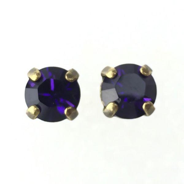 Konplott Black Jack Ohrstecker eckig in Purple Velvet, lila 5450527376013
