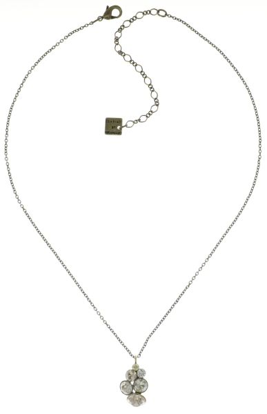 Konplott Petit Glamour Halskette mit Anhänger in weiß/beige 5450543682648