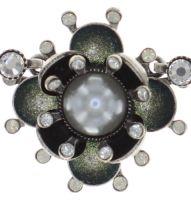 Vorschau: Konplott Petit Fleur de Bloom Halskette in dragonfly grau 5450543855554