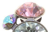 Vorschau: Konplott Petit Glamour Ohrclips in pastel sorbet (Großer Stein schimmert Grün) 5450543854809
