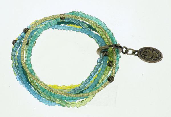 Konplott Petit Glamour d'Afrique Armband in blau/gelb 5450543913704