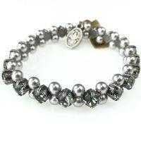 Vorschau: Konplott Pearl Shadow black diamond Armband elastisch (L) 5450543278148