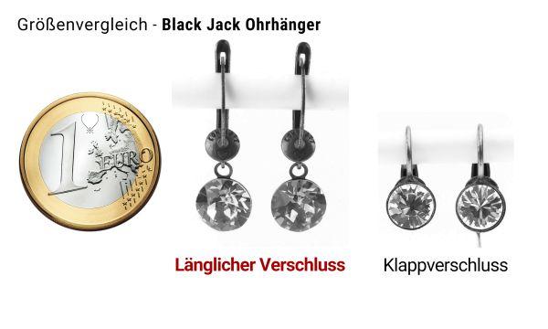 Konplott Black Jack Ohrhänger mit längl. Verschluss in Sapphire 5450527470728