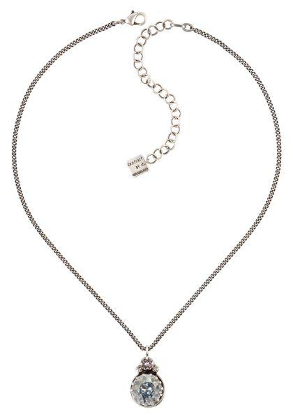 Boho Twist Halskette in grau crystal blue shade