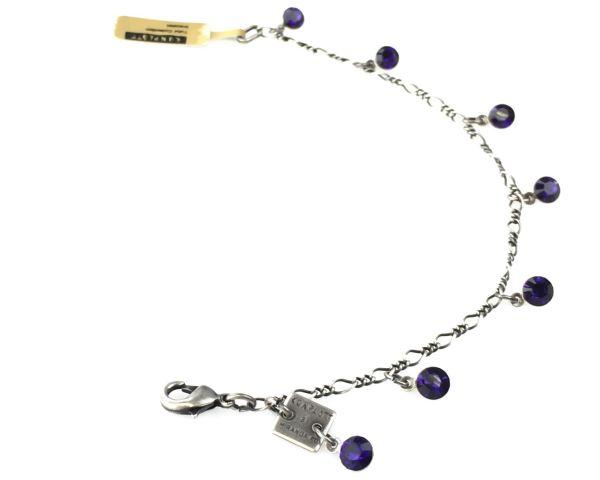 Konplott Tutui purple velvet Armband verschließbar 5450527641241