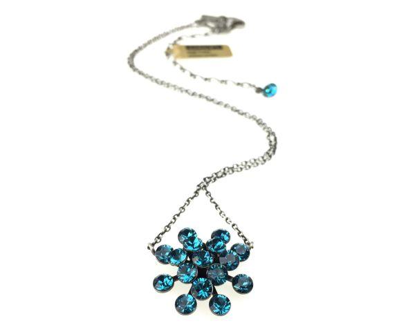Konplott Magic Fireball Halskette mit Anhänger in indicolite, blau 5450527640206