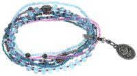Vorschau: Konplott Petit Glamour d'Afrique Armband in lila/blau 5450543722344