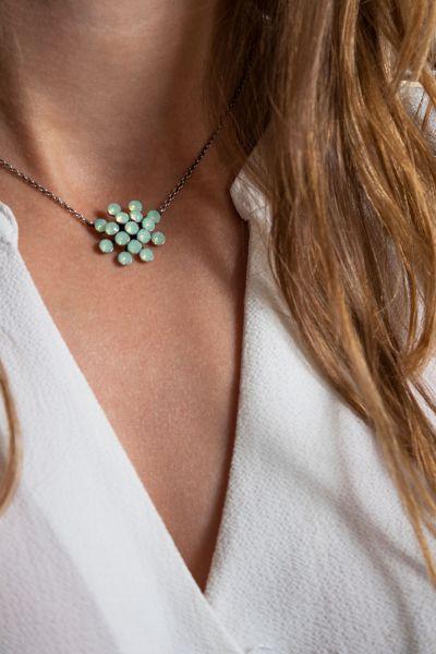 Konplott Magic Fireball chrysolite grün opal Halskette mit Anhänger 5450543461366