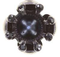 Vorschau: Konplott Petit Fleur de Bloom Ohrstecker in schwarz carbon bloom 5450543799100
