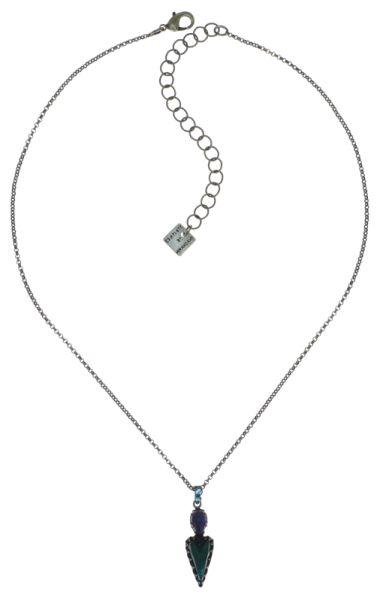 Konplott Snow White Halskette mit Anhänger in blau/grün Größe S 5450543757964