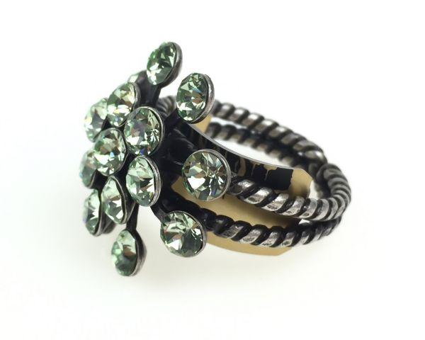 Konplott Magic Fireball 16 Stein Ring in chrysolite, hellgrün 5450527612128