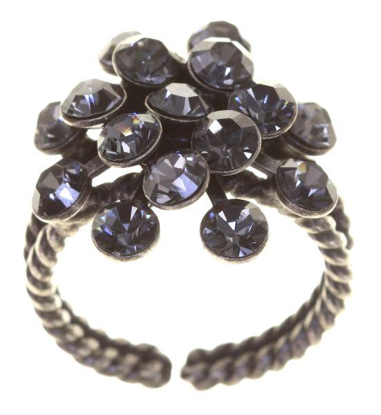 Konplott Magic Fireball 16 Stein Ring in crystal silver night 5450527767149