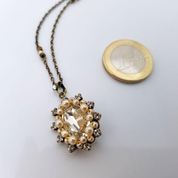 Konplott Kaleidoscope Illusion Halskette mit Anhänger in weiß Größe S 5450543761916