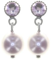 Vorschau: Konplott Pearl Shadow Ohrstecker in pink light amethyst 5450543810959