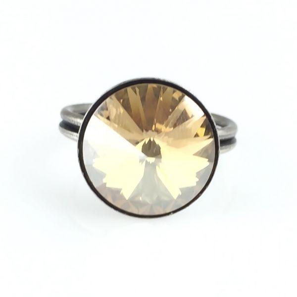 Konplott Rivoli crystal golden shadow Ring 5450527640770