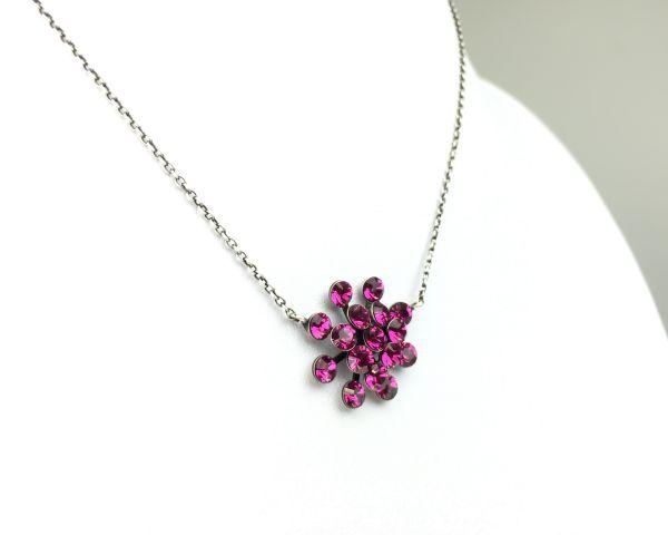 Konplott Magic Fireball Halskette mit Anhänger in fuchsia, pink 5450527611855