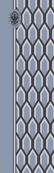 Konplott Schal Geometrisch 5 Blau + Dunkeles Muster 5450543806853