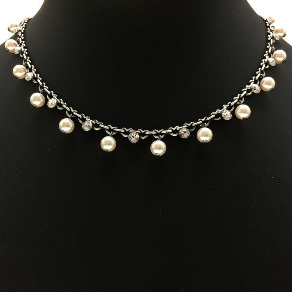 Pearl Shadow crystal Halskette steinbesetzt