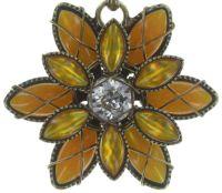 Vorschau: Konplott Psychodahlia Halskette mit Anhänger in gelb Messing 5450543730424