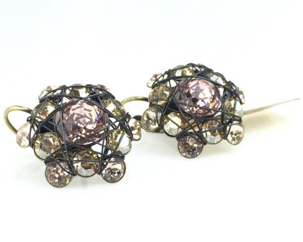 Konplott Bended Lights Ohrhänger mit Klappverschluss in beige/vintage rose 5450527759519