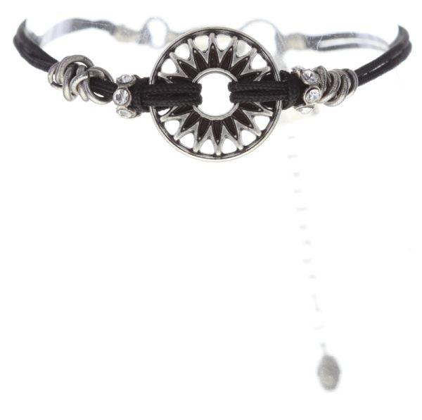 Konplott Festival Armband in schwarz/weiß Silberfarben 5450543747453