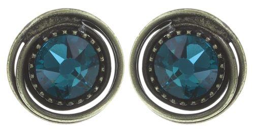 Konplott Amazonia Ohrstecker in blau/grün blue zircon 5450543771434