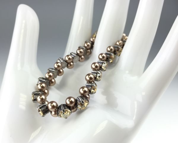 Konplott Pearl Shadow crystal golden shadow Armband elastisch (M) 5450527598743
